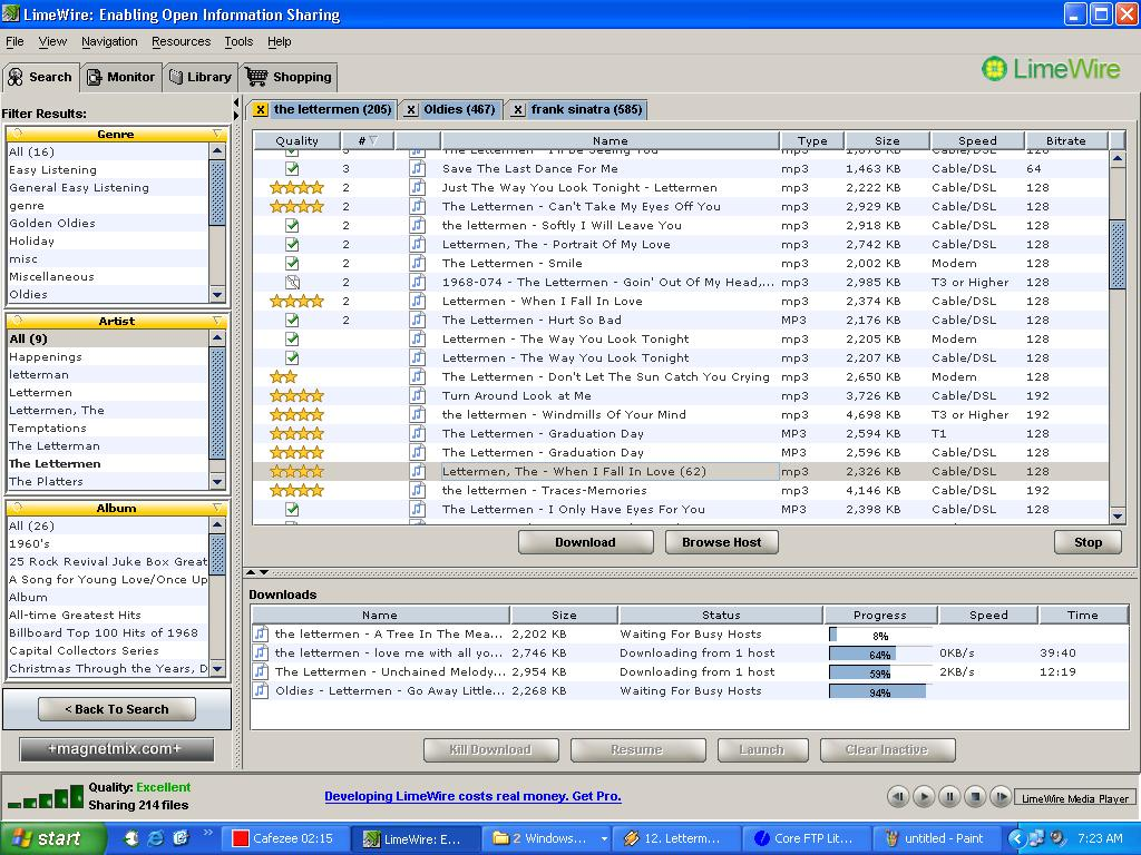 Old Lime Wire Downloads